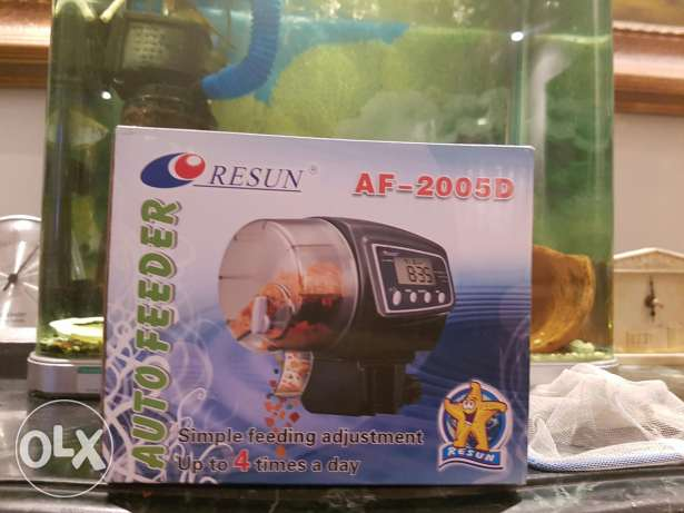 Fish automatic food feeder for angel african or any kind
