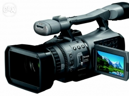 Sony Video Camera full HD with battery charger & rain cover