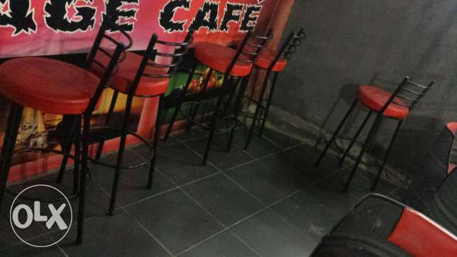 12 barrel chairs+2tables+6 bar chairs