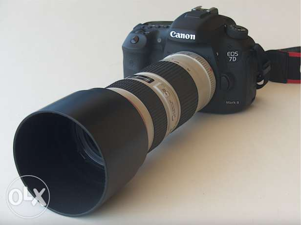 1 CANON EOS 7D MARK III (body) and 1 CANON pro LENS 70-200 f/4L us