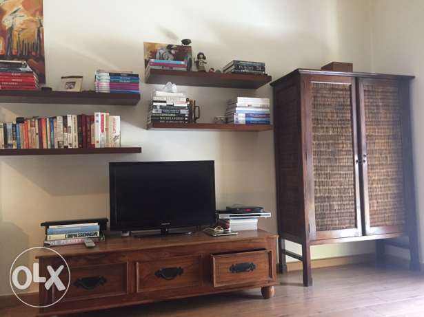 tv stand shelves and cabinet