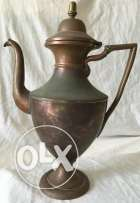 Antique European handmade Coffee Pitcher from red bronze 18th to 19thc