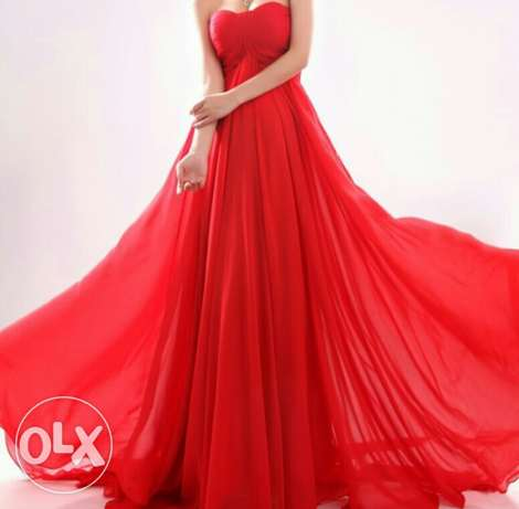 Red engagement dress