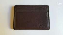 Brown Leather Lacoste Credit Card Holder