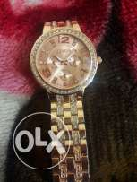 Geneva Watch Golden color and Rose Gold.. free delivery