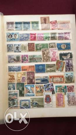 20 Pages of Old Stamps راس  بيروت -  6