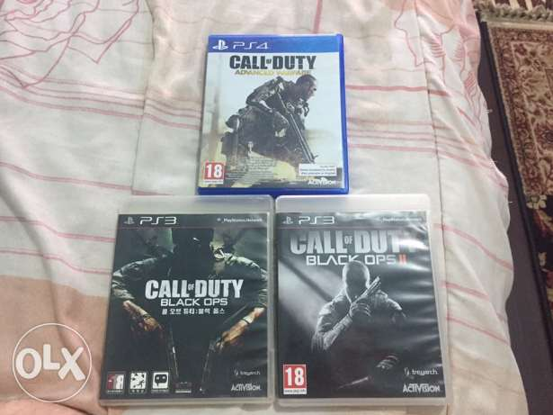 Call of duty Black ops1,2 and Advanced Warfare.