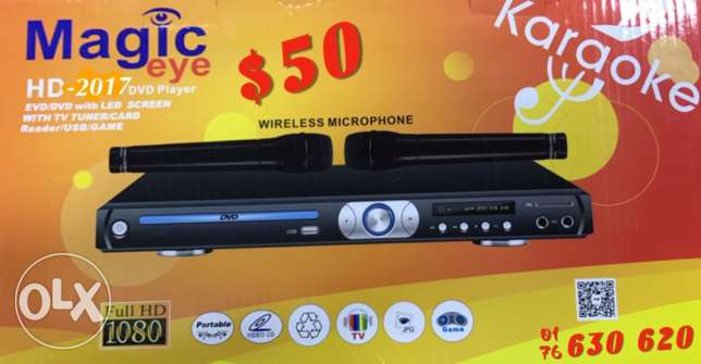 DVD karaoke 2 wireless microphone