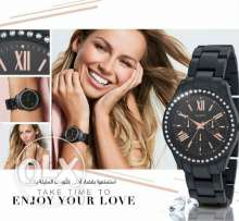 Avon black metalic watch, new