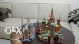 2 church maquettes