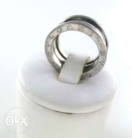 Original BVLGARI RING 1 band ,18k white gold with box , size 59