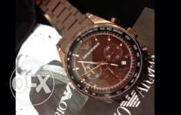Genuine brown matte EA watch for sale