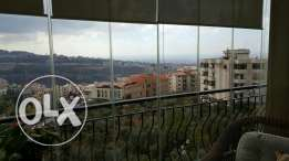 Furnished Duplex Apartment, sea view, Mansourieh, 10 mins to Beirut