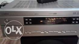 Yamaha home theater amplifier with 6 speakers