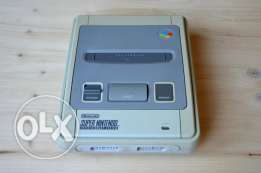 "nintendo snes ""console +tv cable only"""