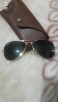 Ray ban Aviator black and gold medium
