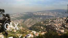 """Good Location Land in """"Ain Alak -Metn """"with spectacular Sea and mounta"""