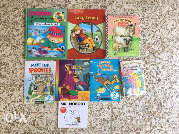 8 books for kids french and english 6-10 years