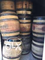 Used French wine barrels
