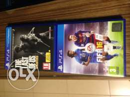 ps4 games(the last of us) (fifa16) (call of duty black ops 3)