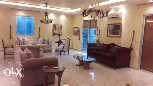 A 180 sqm furnished nicely decorated apartment for rent in Badaro Str.