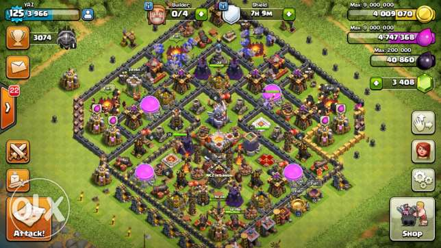 Clash of clans Th11 base for sale انطلياس -  1