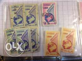 stamps (lebanon) - antique al mourad
