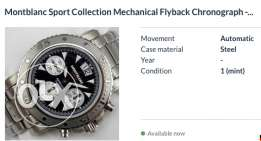 Mont Blanc watch Flyback 7059