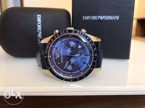 Genuine Blue leather new release from Armani