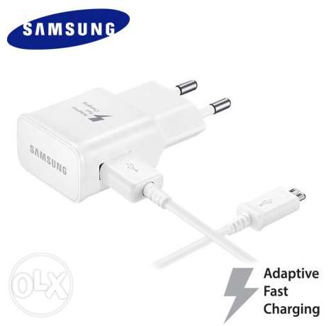 Original Samsung Brand Charging Cable + Wall Charger