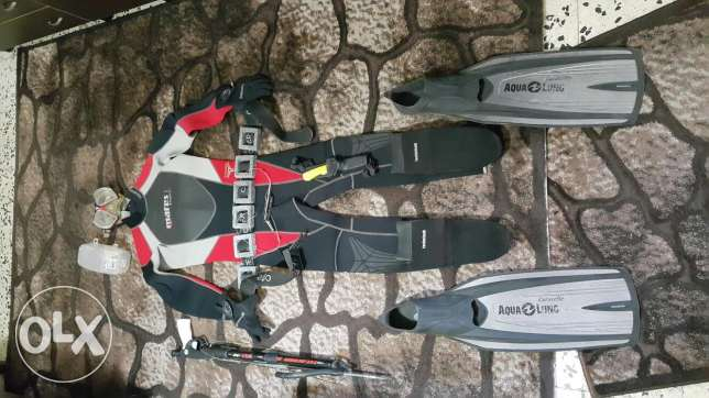 Scuba gear and spearfishing