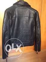 Redskins real leather black color size L-XL new