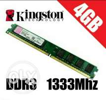 Kingston 4GB DDR3 1333MHz brand new in box.