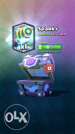 clash royale+arena7+2 legends (sparky level 2 ice and wizard level 1)