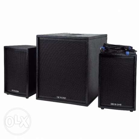 German PA Sound System Sub woofer and Satellite Speakers