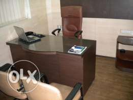 for rent a decorated fully furnished office 3rd floor zalka cite musa