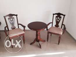 Side table with chairs