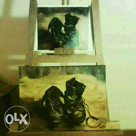 A pair of shoes - Vincent Van Gogh painting