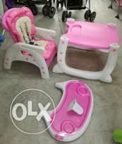 2 in 1 high chair or table with low chair