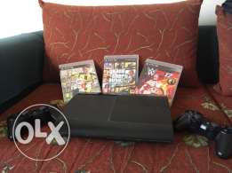 Ps3 , Playstation 3 (With FiFa 17 , WWE 2K17 , GTA V)
