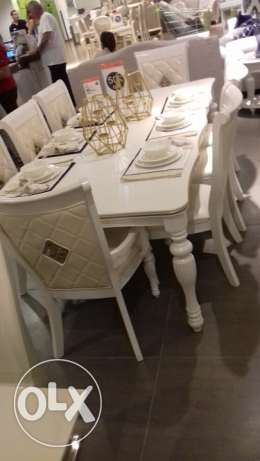 BRAND NEW sealed dining room 8chairs MASSIF RUBBER WOOD100%