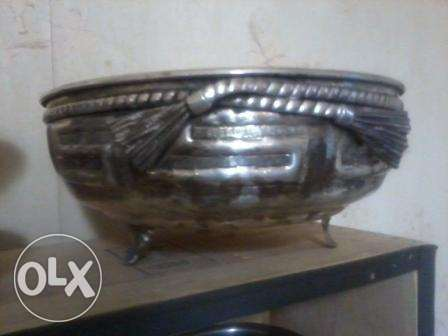 Vase fodda kbir, adim 60-80 sene, silver on copper, 34x18cm, 35$