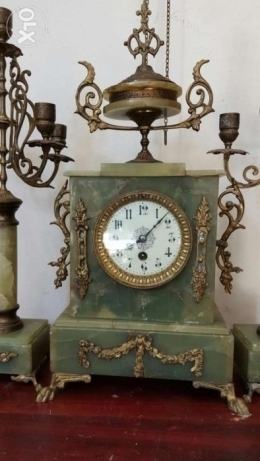 Vintage French clock with chandeliers