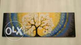 Big tree aceylic paiting consist of 2 paintings