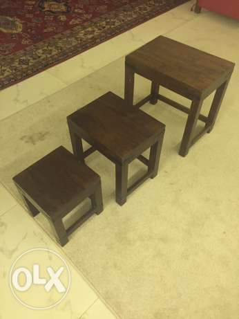small tables x 3