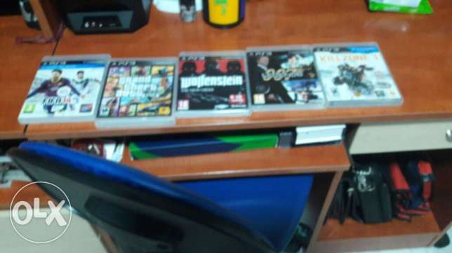 5 ps3 dvd for sale ( fifa 14-gta5-killzone3-007-wolfenstein