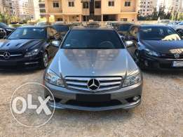 c300 gray/blk leather look amg ajnabi full options