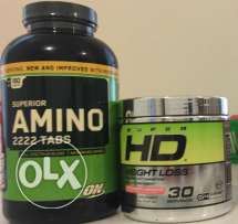 Amino 2222 tabs never opened+Super hd weight loss only 3serving used
