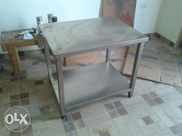 Stainless table 80x60x65