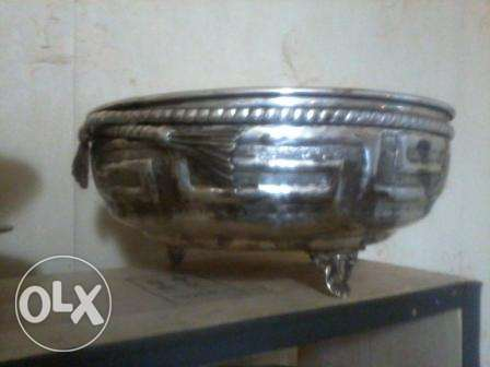 Amazing big silver Bowl, on copper, 60-80 years old, 34x18cm, 35$,
